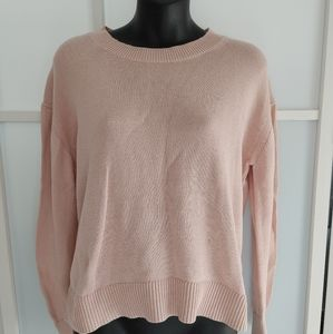Everlane Light Pink 100% Cotton Pullover Sweater